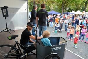 Lastenräder stoßen in der Weststadt auf großes Interesse