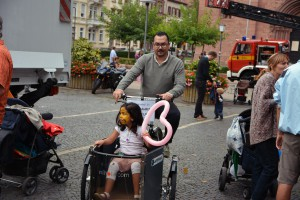 Lastenrad Probefahrt mit dem Nihola Family