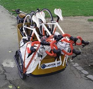 Babboe Curve als Transportrad für andere Fahrräder
