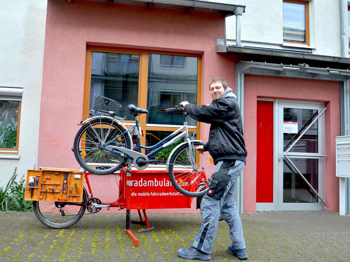die mobile fahrradwerkstatt in heidelberg k mmert sich um. Black Bedroom Furniture Sets. Home Design Ideas