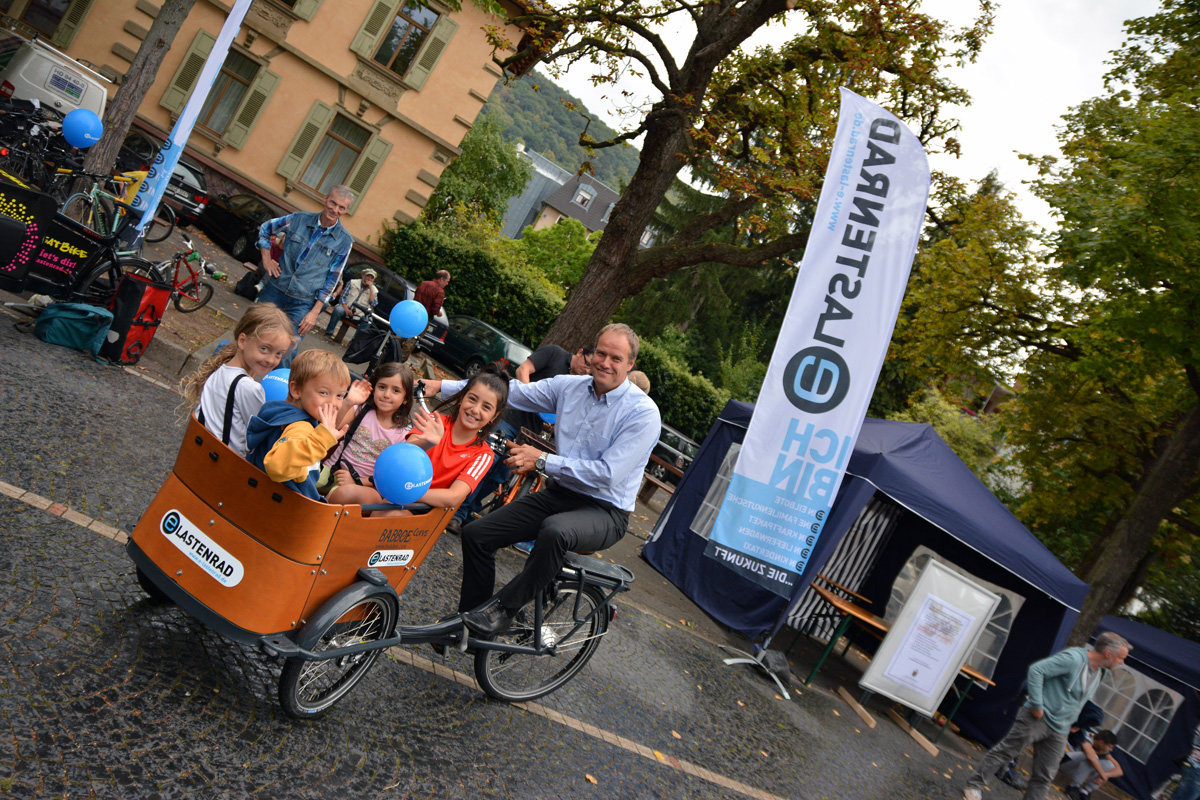 familienfahrrad test in heidelberg auf dem weststadtfest. Black Bedroom Furniture Sets. Home Design Ideas