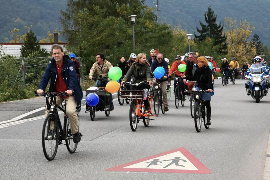 Radparade unterwegs durch Heidelberg - Foto: HEIDELBERG24/Andreas Schink