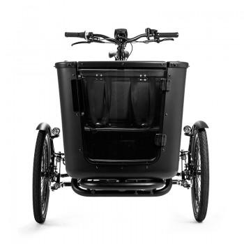 Cargo Box - matt schwarz mit transparenter Tür