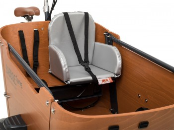 Babboe Big / City / Curve Kindersitz - silber