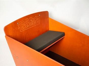 Bakfiets gepolsterte Sitzbankauflage - matt-schwarz