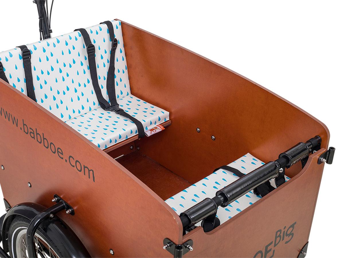Babboe Big Sitzkissen-Set - Regentropfen