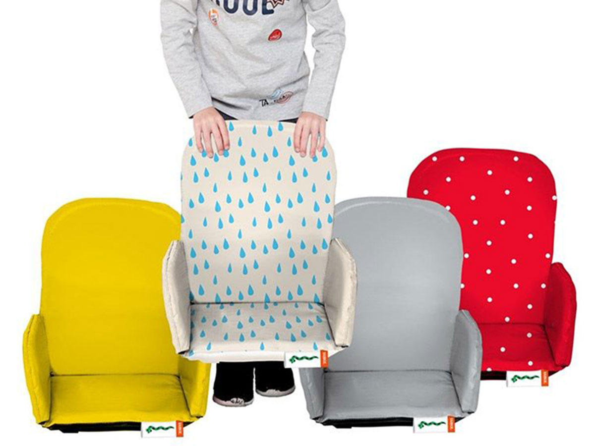 Babboe Big / City / Curve Kindersitz - gelb