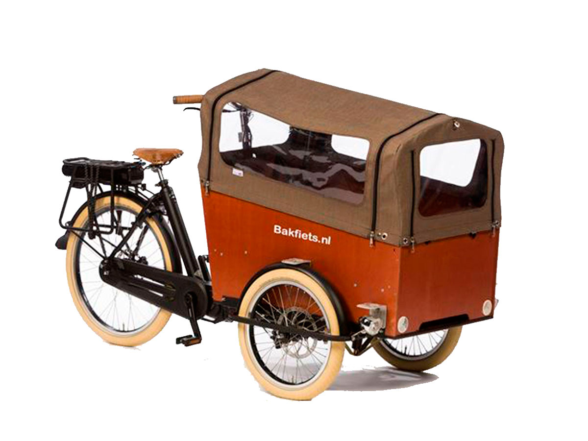 Bakfiets CargoTrike Wide Regendach - tweed