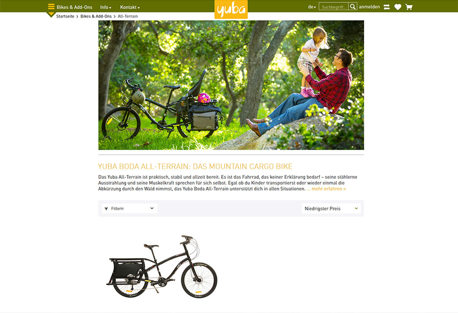 Yuba Europe: Boda All-Terrain Lastenrad
