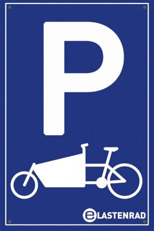 Verkehrsschild: Lastenrad-Parkplatz
