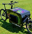 Lastenfahrräder für Demos und Firmenfeiern
