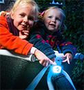 Kindertransport mit dem Transportfahrrad